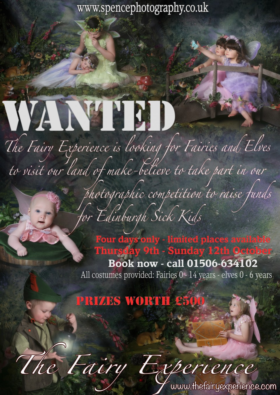 The Fairy Experience is back to our central Scotland photography studio in October 2014